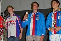 Jakub Hladík (na snímku uprostřed) se zúčastnil Mistrovství Evropy.