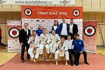 Judo Železo Hranice na mistrovství republiky juniorů v Jablonci nad Nisou.