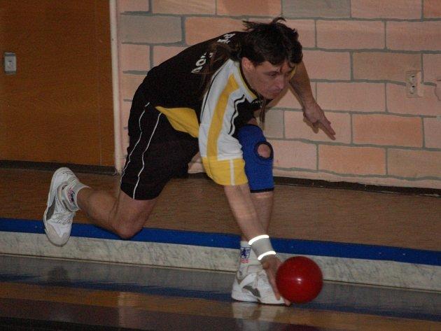 Goldemund (na snímku) s Bělíčkem vyhráli domácí turnaj dvojic na sto hodů sdružených.