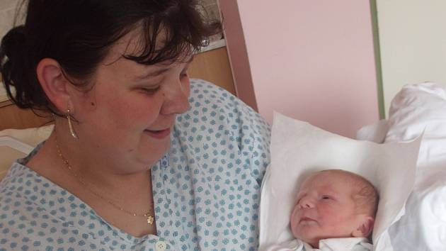 Ondrášek Čada, Uhřičice, narozen dne 12. května 2013 v Přerově, míra: 53 cm, váha: 3402 g