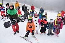 Závěrečný den lyžařské školy 2020 vareálu lyžařské střediska Potštát se konal poslední lednovou neděli.