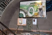 V nové vinotéce na hranickém Masarykově náměstí vystavují své díla výtvarník Libor Beneš a fotograf Jiří Necid. Vernisáž spojená s degustací vín proběhla v pátek 7. prosince