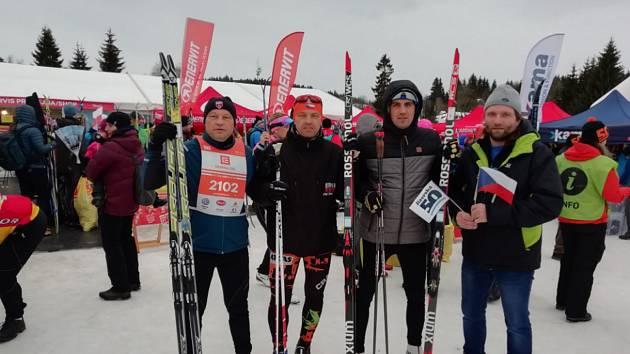 Zdeněk Hoffmann, Miroslav Gerhard a Martin Horáček pokořili legendární Jizerskou 50.
