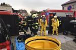 Cvičný zásah hasičů v Hranicích