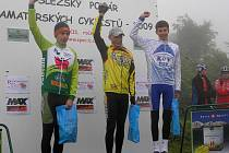 Vítězství vybojoval v kategorii starších žáků Jakub Frkal (na snímku vpravo).