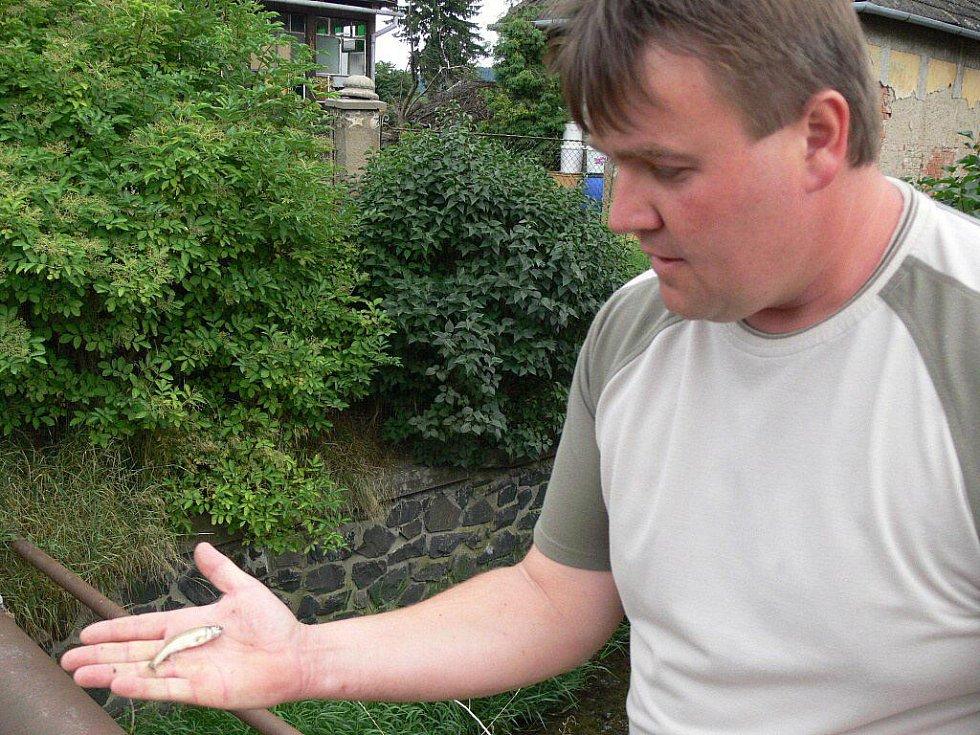 Otrava ryb v Drahotušském potoce