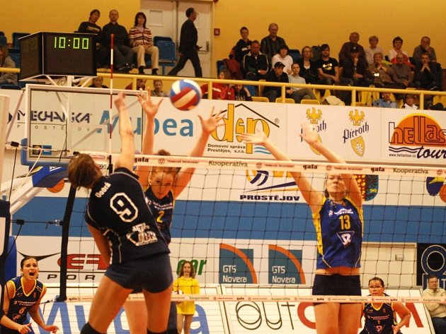Přerovské volejbalistky prohrály i třetí utkání a sezona pro ně již skončila.