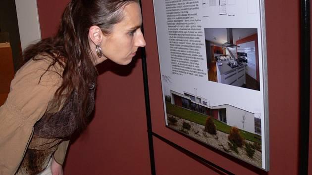 Výstava prezentuje jak honosná sídla, tak i úsporné stavby.