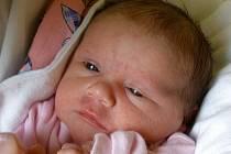 Veronika Němcová, Hranice, narozena 11. srpna v Olomouci, míra 52 cm, váha 3 710 g