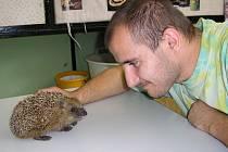 V přerovské stanici BIOS zaujal děti i ochočený ježek.