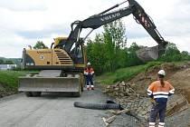 Silnice mezi Potštátem a osadou Michalenka bude pokrytá asfaltem