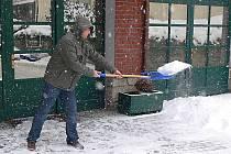 Sněhová nadílka v Hranicích -