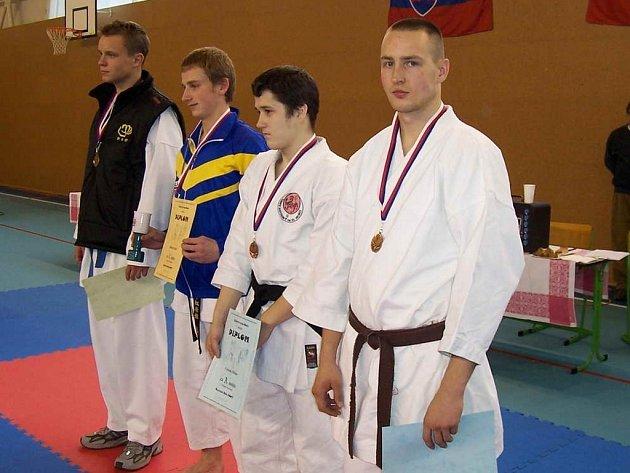Michal Frajs získal v soutěži kate třetí příčku.