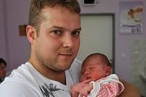 Klára Vojáčková, Přerov, narozena 1. července v Přerově, míra 51 cm, váha 3 650 g