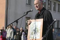 Arcibiskup Jan Graubner na dřevohostickém zámku