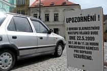 Už tento pátek čeká řidiče uzavírka Masarykova náměstí.