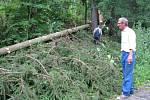 V Radíkově uklízí spadlé stromy.