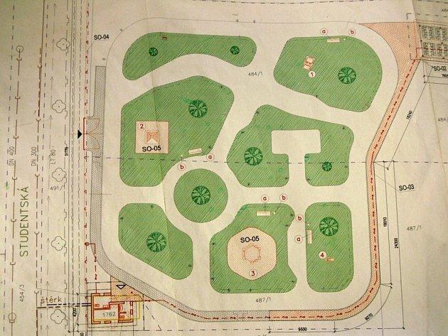 Plánek dopravního hřiště vHranicích