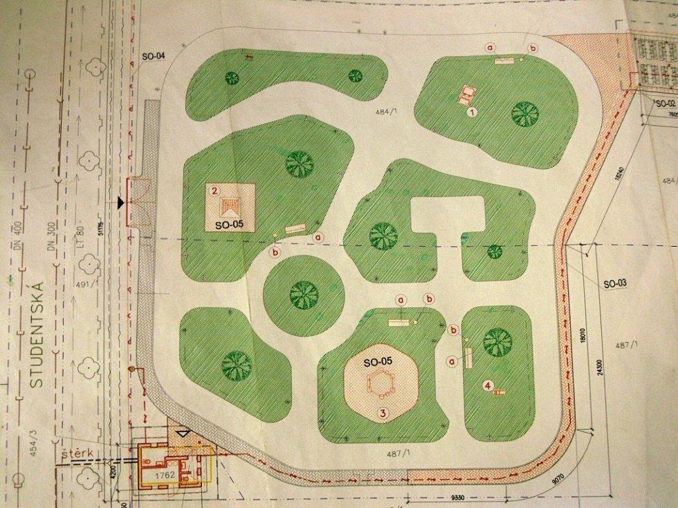 Plánek dopravního hřiště v Hranicích