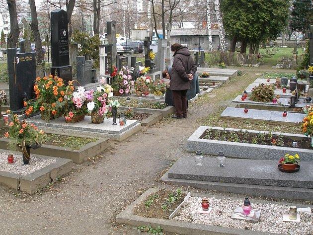Hřibitov v Přerově.