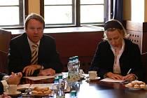 Zástupci regionu Hranicko se setkali na Městském úřadě v Hranicích s místopředsedou vlády a ministrem životního prostředí Martinem Bursíkem.