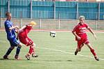 Starší dorost 1. FC Přerov (v modrém) zvítězil nad Zábřehem 3:0.