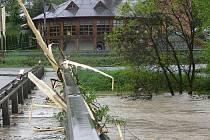 Ústecký most v pondělí 17. května v 18.35 hodin