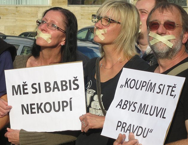 Protest proti premiérovi v demisi Andreji Babišovi. Ilustrační foto