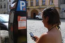 Parkování pomocí sms v Hranicích