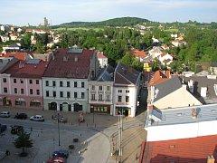 Pohled z radniční věže v Hranicích