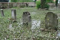 Smutný pohled byl ještě v pátek 26. června na židovský hřbitov v Hranicích.