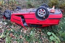 Nehoda řidičky octavie u Olšovce