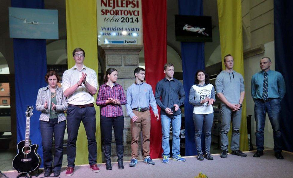 Vyhlášení nejúspěšnějších sportovců Hranic za rok 2014