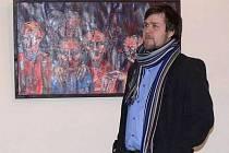 V hranické synagoze vystavuje své obrazy Karel Švach