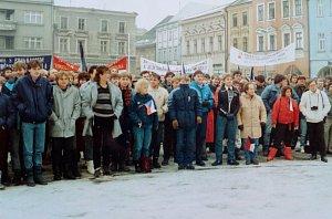 Listopadové události roku 1989 v Hranicích