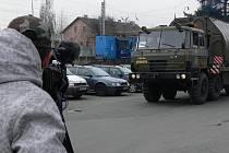 Natáčení armádního dokumentu na nádraží v Hranicích