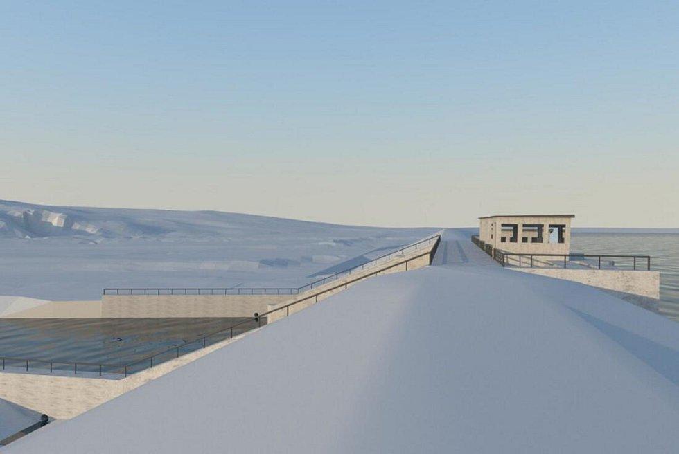 Vizualizace přehrady Skalička