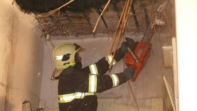 Požár komína v Hrabůvce