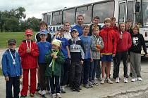 Mladí atleti SK Hranice se zúčastnili Uničovské maratonky.