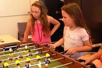 O zábavu mají postaráno děti z příměstského tábora, který pořádá hranický Dům dětí a mládeže.