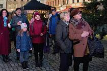 Adventní Masarykovo náměstí v Hranicích. Ilustrační foto