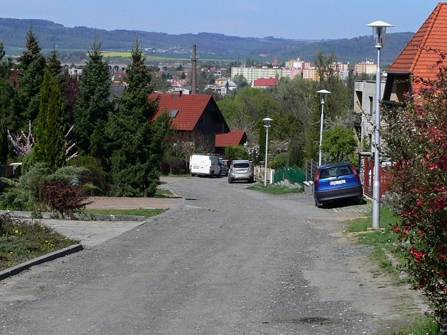 Ulice Pod Bílým kamenem v Hranicích
