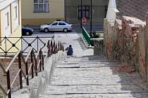 Pivovarské schody v Hranicích
