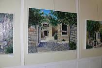 Vernisáž výstavy Romana Morocze a Petra Černocha v hranické Galerii M+M
