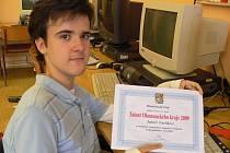 Patnáctiletý Honza Vavřík z Hranic si z letošního ročníku soutěže Talent roku Olomouckého kraje přivezl krásné druhé místo