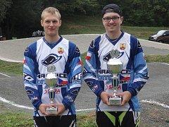 Vítězové Moravské BMX ligy z Hranic - Marek Smékal a Michal Křištof