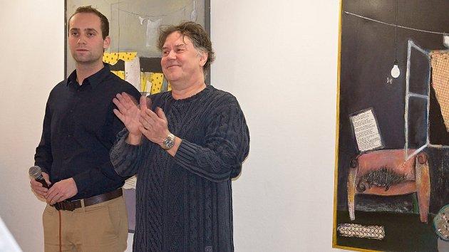 Vernisáž výstavy výtvarníka, publicisty, herce, textaře a hudebníka Marka Brodského v muzeu na Staré radnici