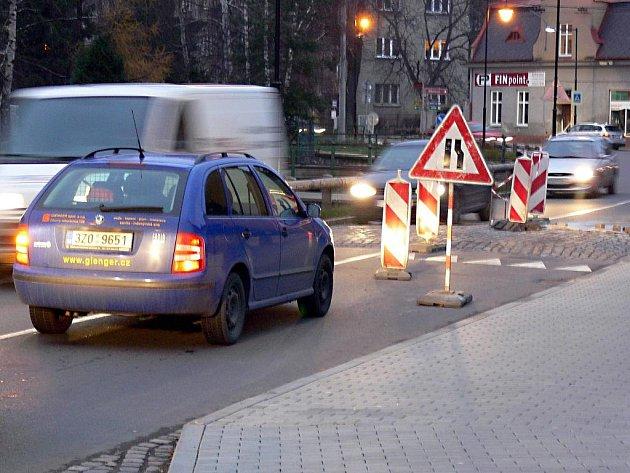 Retardér v Komenského ulici