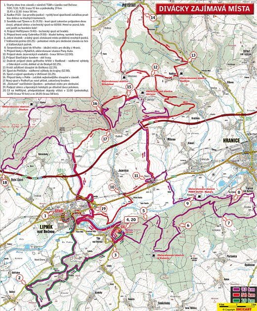mapa trasy Author šela maraton