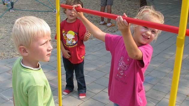 První školní den u hranického Domečku